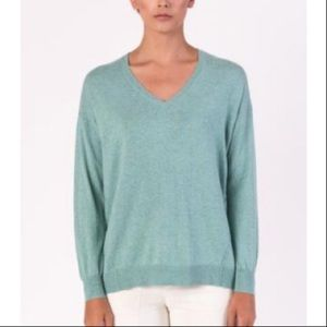 Margaret O'Leary // Easy Vee Cotton V-Neck Sweater